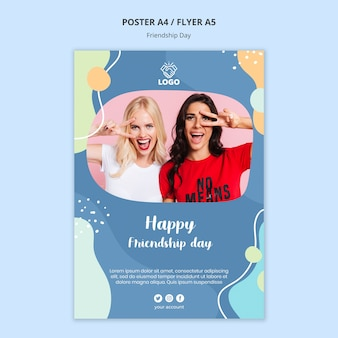 Friendship day flyer template