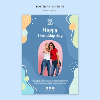 Friendship day poster template