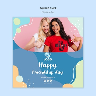 Friendship day square flyer