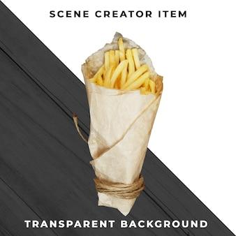 Fries object transparent psd