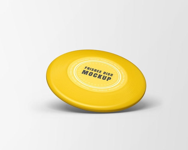 Frisbee disc mockup isolated