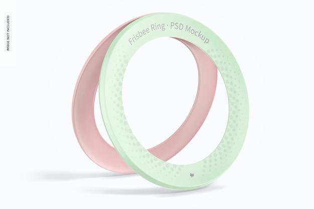 Frisbee ring mockup, leaned