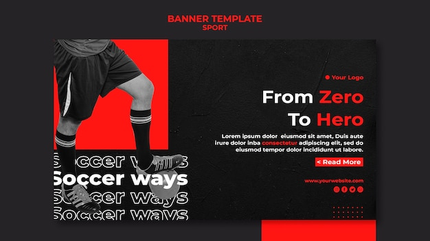 From zero to hero sport banner template