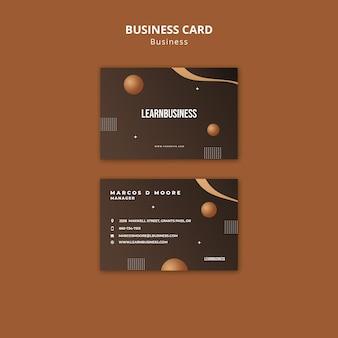 Front and back business card