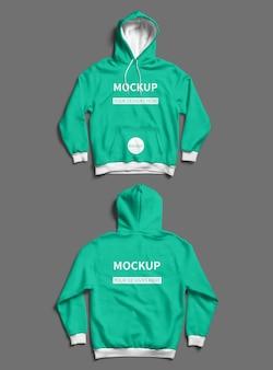 Front and back jacket mockup