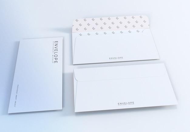 Front and back side envelope mockup design