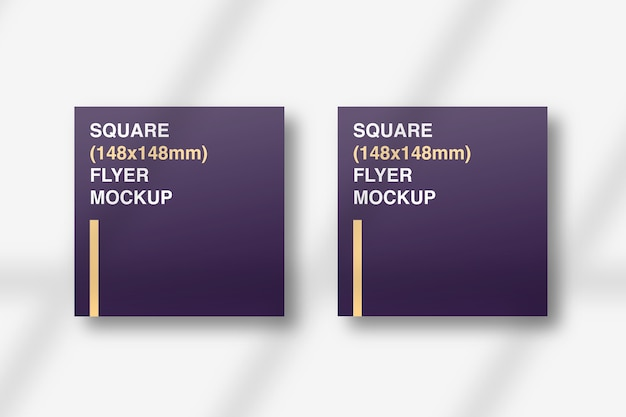 Front and back of square flyer mockup