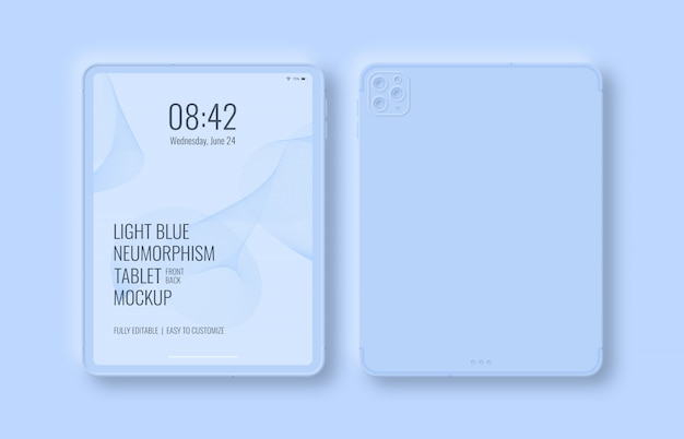 Front and back of tablet mockup