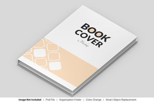 Мокап книги на передней обложке