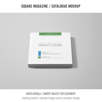 Front cover square magazine or catalogue mockup
