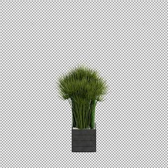 花瓶の前の花 3 d レンダリング