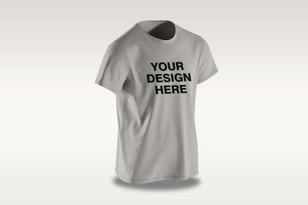 고립 된 앞면 티셔츠 모형 디자인