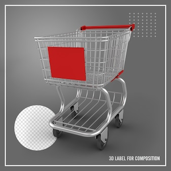 Front and side view of shopping cart