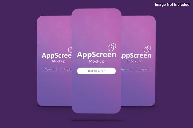 正面図アプリ画面のモックアップ