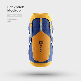 Front view of backpack mockup