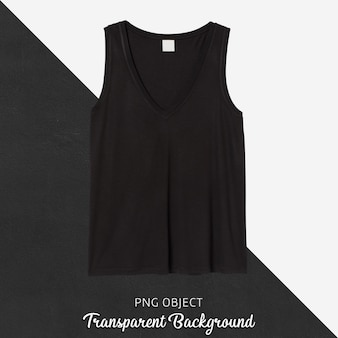 Front view of basic black tank top mockup