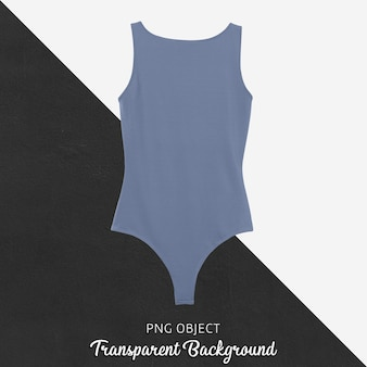 Front view of basic blue bodysuit mockup