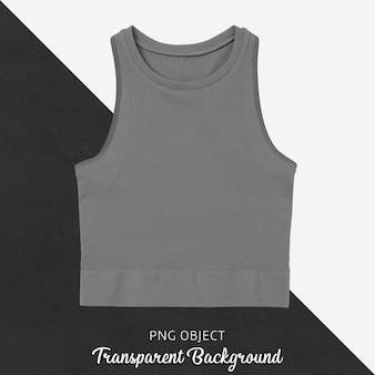 Front view of basic crop top mockup