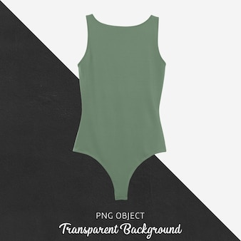 Front view of basic green bodysuit mockup