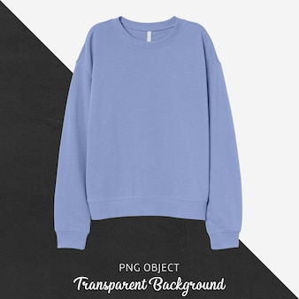 Front view of basic light blue sweatshirt mockup