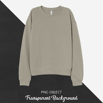Front view of beige sweatshirt mockup