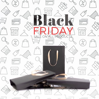 Front view of black friday concept mock-up