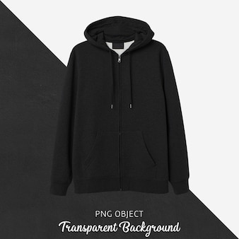Front view of black hoodie mockup