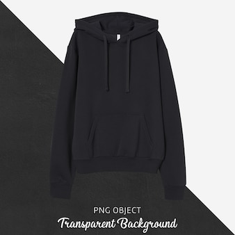 Front view of black unisex hoodie mockup