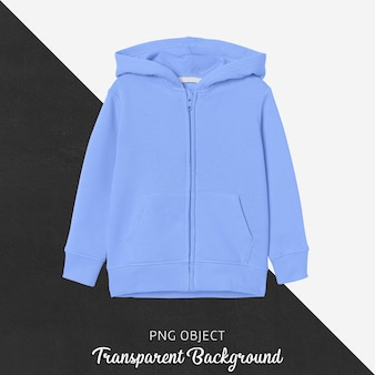 Front view of blue children hoodie mockup