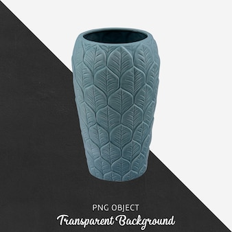 Front view of blue patterned vase