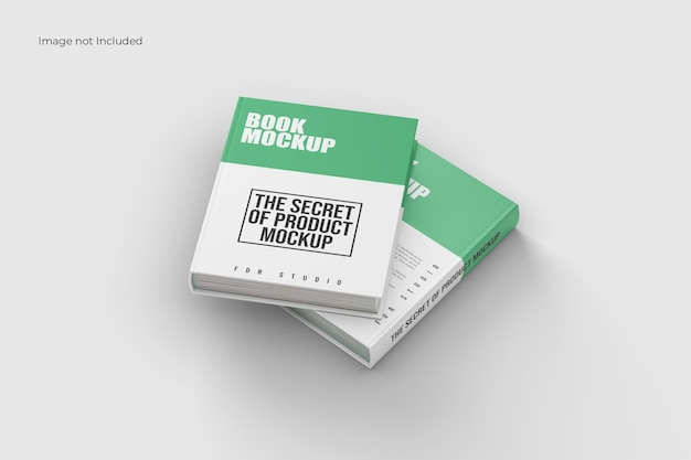 Front view book mockup