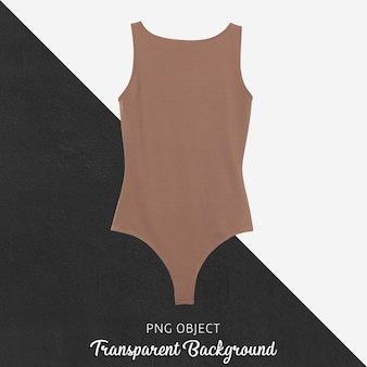 Front view of brown bodysuit mockup