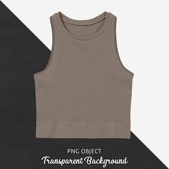 Front view of brown crop top mockup