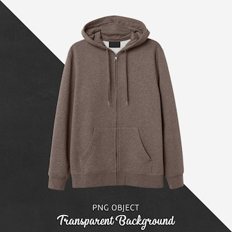 Front view of brown hoodie mockup Premium Psd