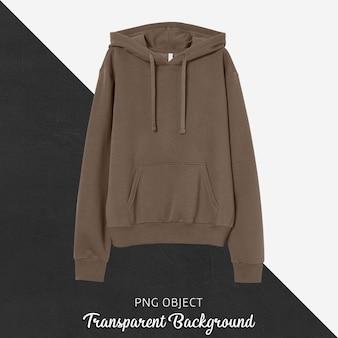 Front view of brown hoodie mockup