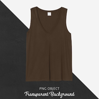 Front view of brown tank top mockup