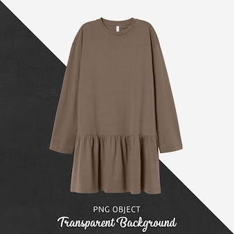 Front view of brown woman dress mockup