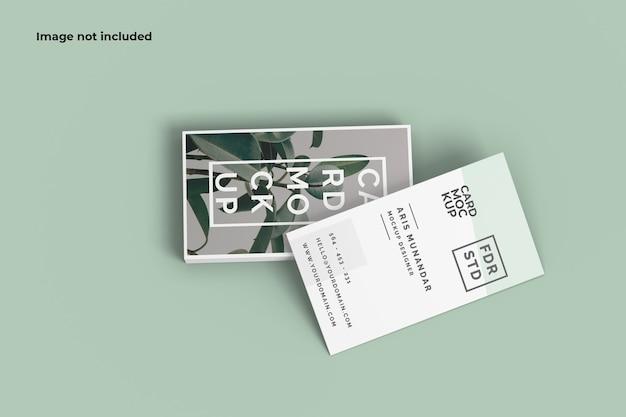 Вид спереди макет визитной карточки