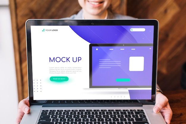 Front view of business concept mock-up
