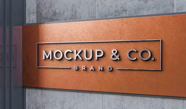 Front view of business mockup sign design