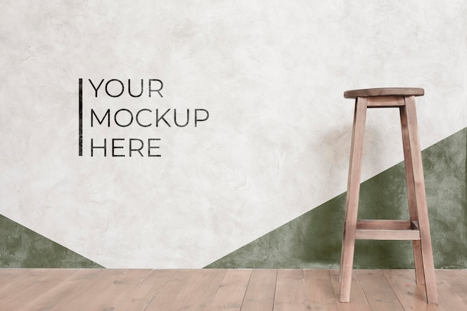 Front view of chair mock-up for interior decoration