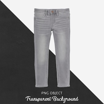 Front view of children gray jean mockup