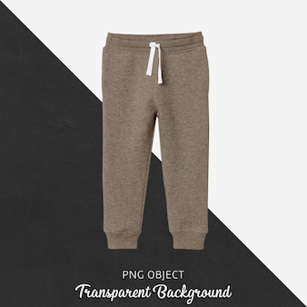 Front view of children sweatpants mockup