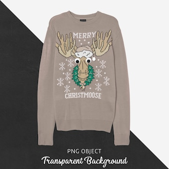Front view of christmas sweater mockup