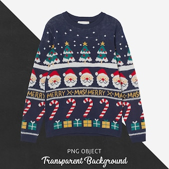 Front view of christmas unisex sweater mockup