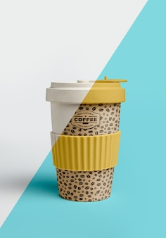 Front view of coffee cup
