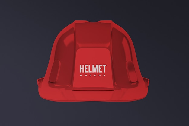 Front view of construction helmet mockup isolated