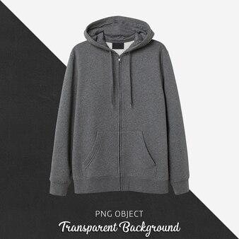 Front view of dark gray hoodie mockup