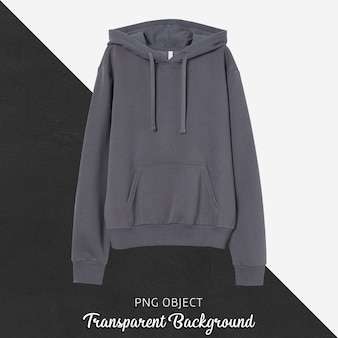 Front view of dark gray hoodie mockup