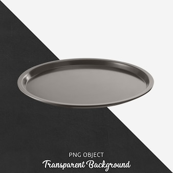 Front view of dark gray round plate mockup